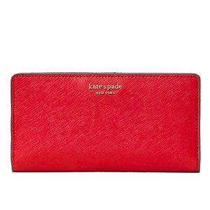 Kate Spade Cameron Large Slim Bifold Wallet -Rosso